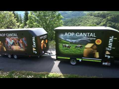 Le Camion de l'AOP Cantal au Puy Mary