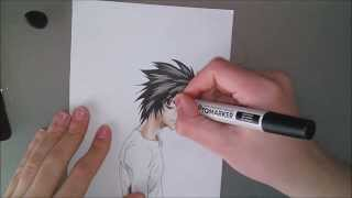 How to draw L [Death Note] / Comment dessiner L