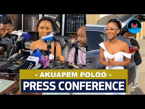 Download Press Conference: Akuapem Poloo Breaks Down In Tears