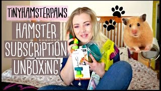 TINYHAMSTERPAWS UNBOXING | Small Animal Monthly Subscription Box | Pet Supplies