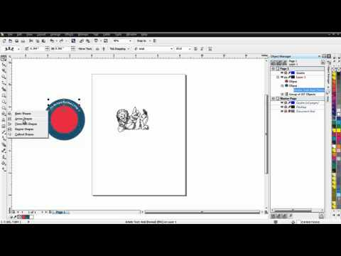 Creating a School Mascot in CorelDRAW