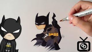 How to Draw Batman - Justice League ( CHIBI VERSION )