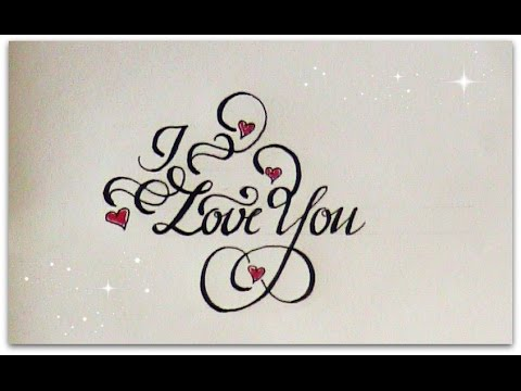 Image Gallery I Love You Calligraphy