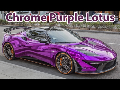 The CRAZIEST modified Lotus Evora driving through Beverly Hills