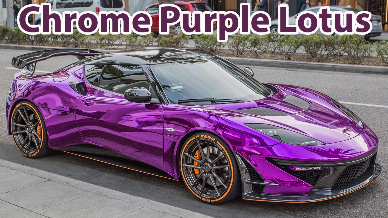 Chrome Car Wrap >> The CRAZIEST modified Lotus Evora driving through Beverly Hills - YouTube