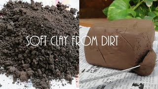 How To Make Clay From Dirt @ zero rupee || Making Of  Soft Clay From Your Backyard Soil