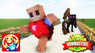 Monster School: KICK THE BUDDY CHALLENGE and Bowmasters - Minecraft Animation