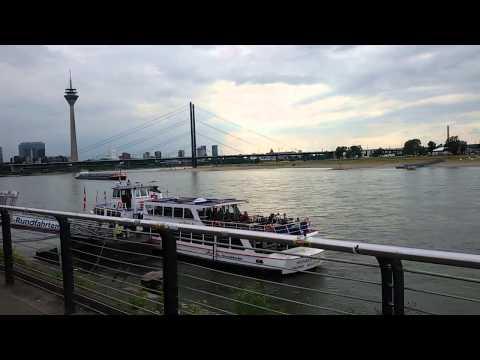 Германия.Дюссельдорф,набережная Рейна.
