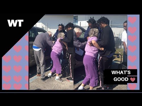 Three Young RAPPERS Help 89 Year Old Woman Into Her Car