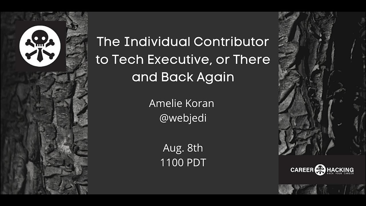 Amelie Koran - The Individual Contributor to Tech Executive, or There and Back Again - DEF CON 28 - YouTube