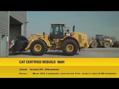 Certifikovaná Prestavba CCR Kolesového Nakladača Cat 966H