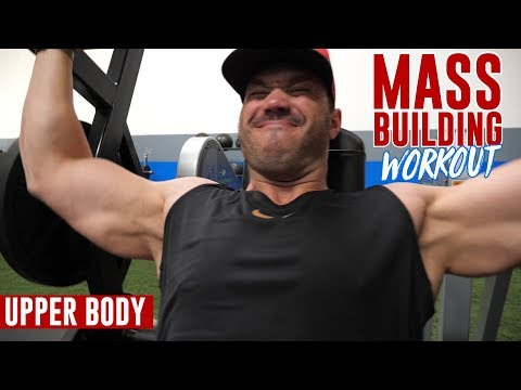 Mass Building WORKOUT Upper Body Routine (5 Exercises)