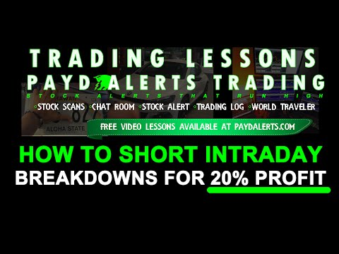 How To Short Sell Stocks Intraday Breakdowns For 20 Percent Profit