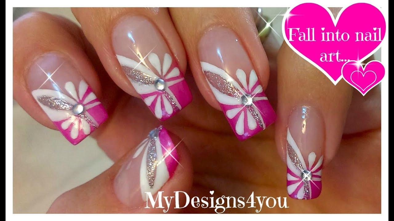 Floral Pink Nail Art Spring Summer Nails