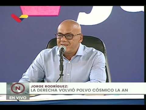 Jorge Rodríguez: 51 mil dólares recibieron diputados de la AN para retirarse de elecciones 6-D