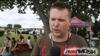 The Chariot Interview w/ Josh Scogin at Vans Warped Tour 2013 in Uniondale, NY