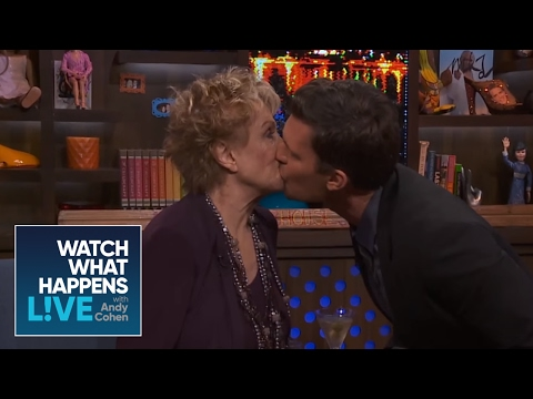 Sizzling Moment #3: Cloris Leachman Kisses Jeff Lewis and Andy | WWHL