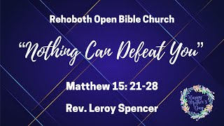 Rehoboth Open Bible Church Sunday Service May 10 2020