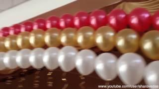 Арки из гелиевых шаров Arch of balloons.(Арки из #гелиевых #шаров и две #стойки из шаров по краям сцены. Небольшое #оформление #зала. ЖДУ ВАС НА МОЕМ..., 2014-03-15T16:03:27.000Z)