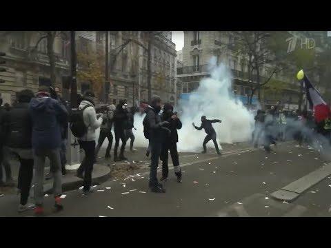 Во Франции продолжаются масштабные забастовки по всей стране.