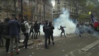 Во Франции продолжаются масштабные забастовки по всей стране