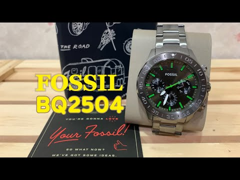 FOSSIL BANNON MULTIFUNCTION SMOKE STAINLESS STEEL WATCH | BRANDS GOT SIGNATURE BY AN KLEH