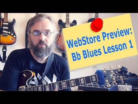 WebStore Preview: Bb Jazz Blues Lesson 1