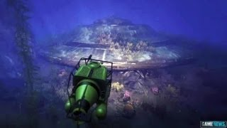 GTA 5 Easter Egg : Underwater Crashed UFO !