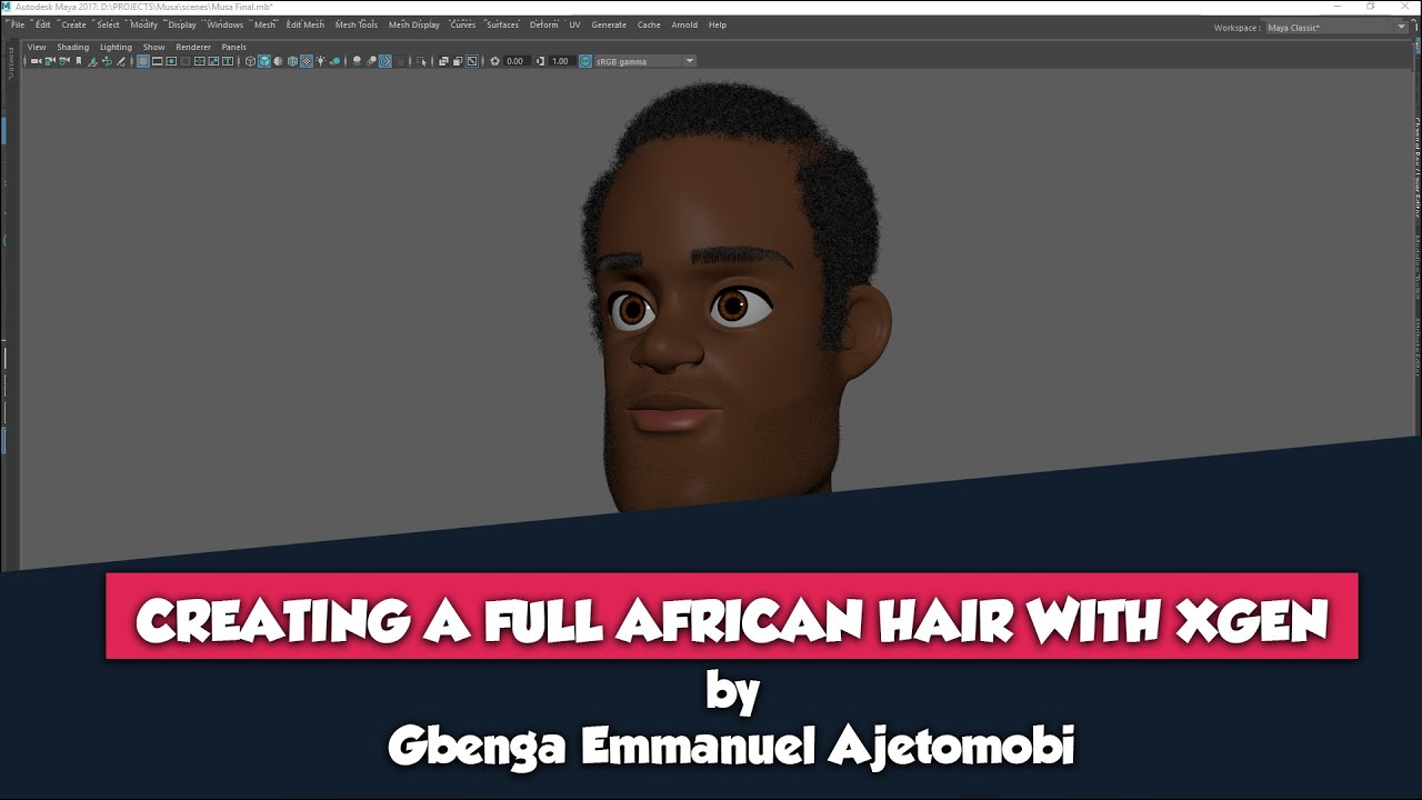 Creating a Full African Hair with Maya Xgen - Introduction