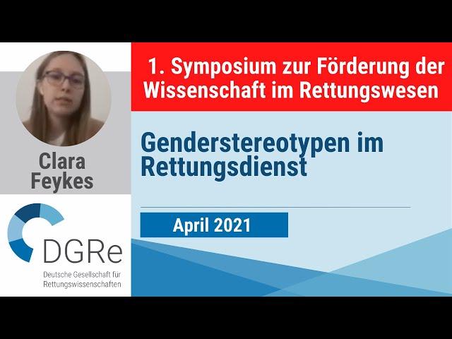 Clara Feykes: Genderstereotypen im Rettungsdienst
