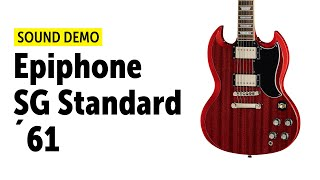 Epiphone SG Standard ´61 Vintage Cherry - Sound Demo (no talking)
