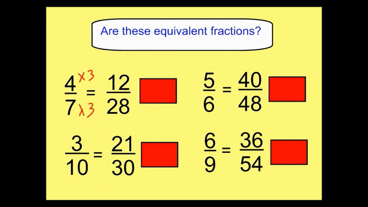 Worksheet How To Complete Equivalent Fractions finding equivalent fractions youtube