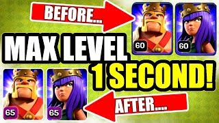 HOW TO GET LEVEL 65 HEROES IN 1 SECOND! - Clash Of Clans 2019 UPDATE!