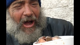 HOMELESS PEOPLE REACT TO MAGIC! thumbnail