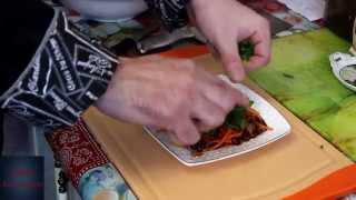 Салат из фасоли и моркови по корейски
