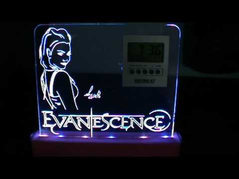 Incisione plexiglass con illuminazione led evanescence2.mpg youtube