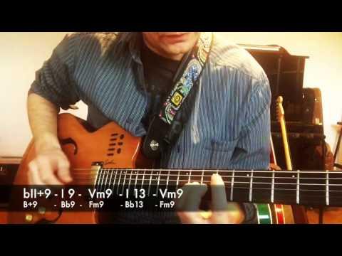Jazz Blues by Joe Pass - guitar cover + harmony explained