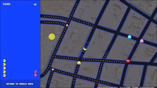 Playing PAC-MAN on Google Maps - April Fools' Day 2015 Free HD Video