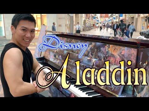 マッチョがアラジンのホールニュー・ワールドを弾き暴れ/A Whole New World/Aladdin(Disney) 【ストリートピアノ】