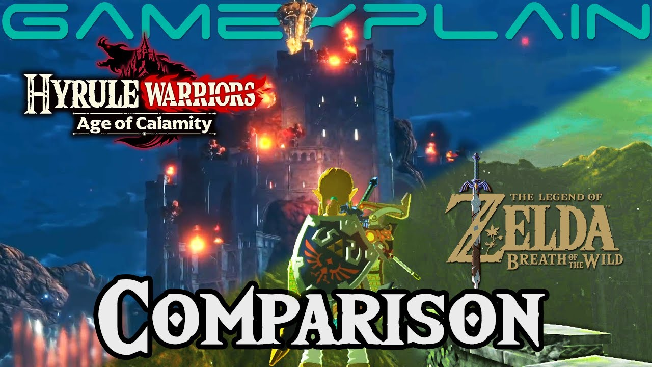 Breath Of The Wild Vs Hyrule Warriors Age Of Calamity See The 100 Year Difference Ver 2 Youtube