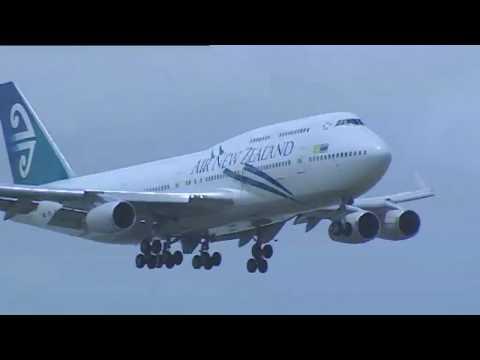 Air New Zealand - Biofuel Test Flight - Landing