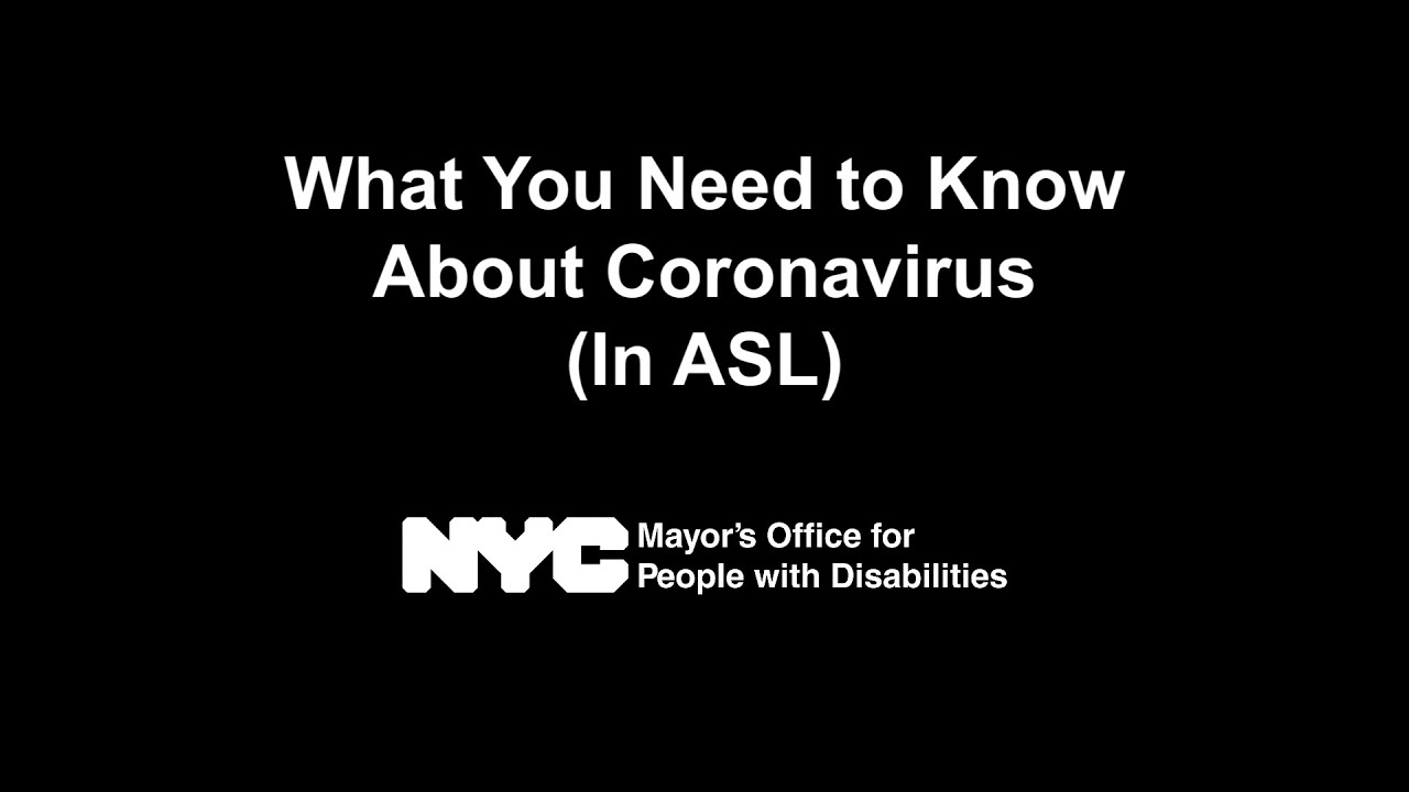 """What You Need to Know About Coronavirus (In ASL)"""