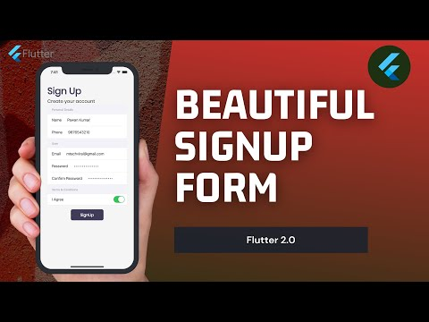 Flutter 2.0   Beautiful Cupertino Form   FormSection   FormRow Explained