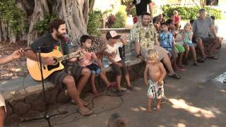 "Jack Johnson Singing to Children ""The 3 Rs"" Reduce, Reuse, Recycle"