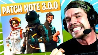 PATCH NOTE 3.0.0 on Fortnite: Battle Royale!!