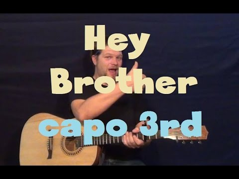 Hey Brother Avicii Easy Guitar Lesson Strum Chord How To Play