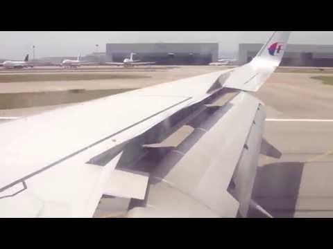 Malaysia Airlines MH2605 B737-800 Takeoff/Air/Landing Kota Kinabalu to Kuala Lumpur