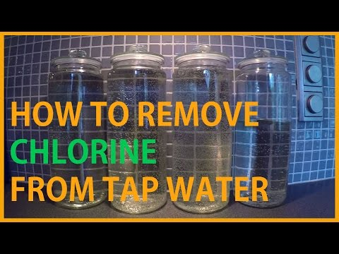 HOW TO REMOVE CHLORINE FROM TAP WATER