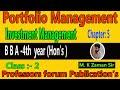 B B A 4th year -Investment Management -(Portfolio) - Class-2