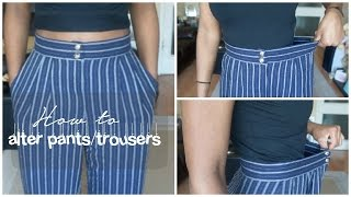 How to alter a pair of pants/trousers DIY | Birabelle